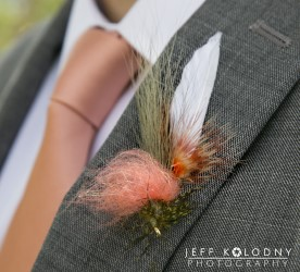 Fishing lure groom bouttiniere