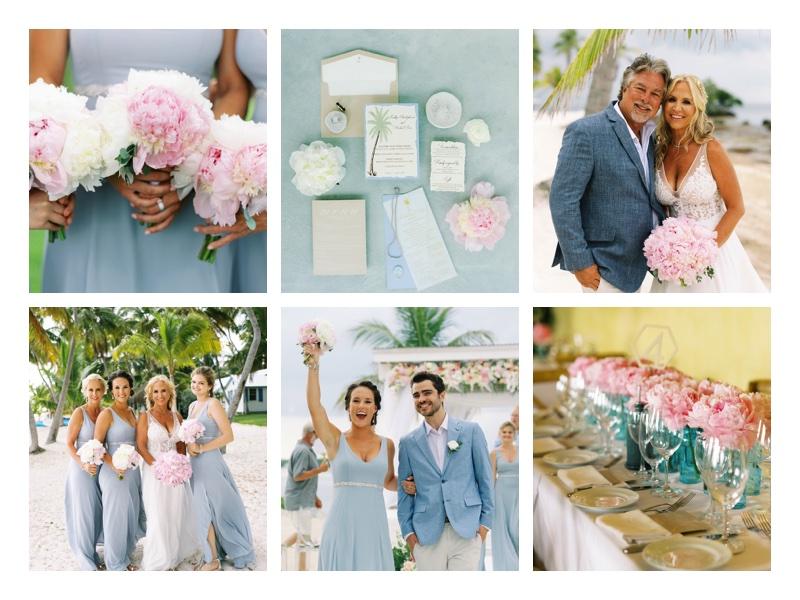 Destination wedding day colors