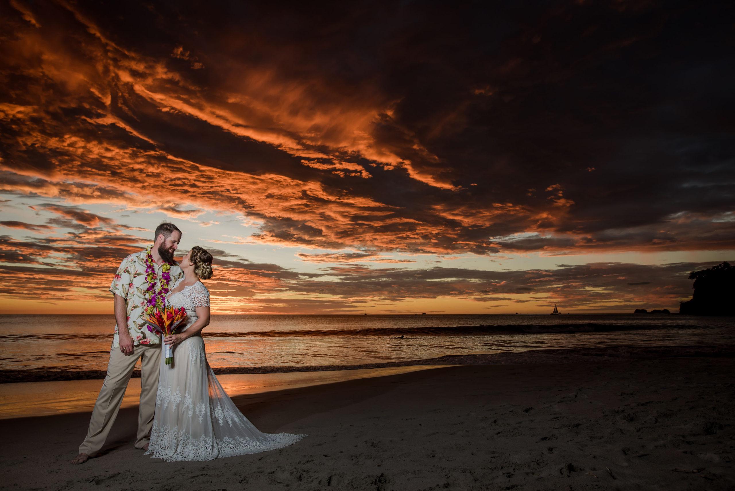 Dream Costa Rican destination wedding at Margaritaville Beach Resort in Flamingo Bay