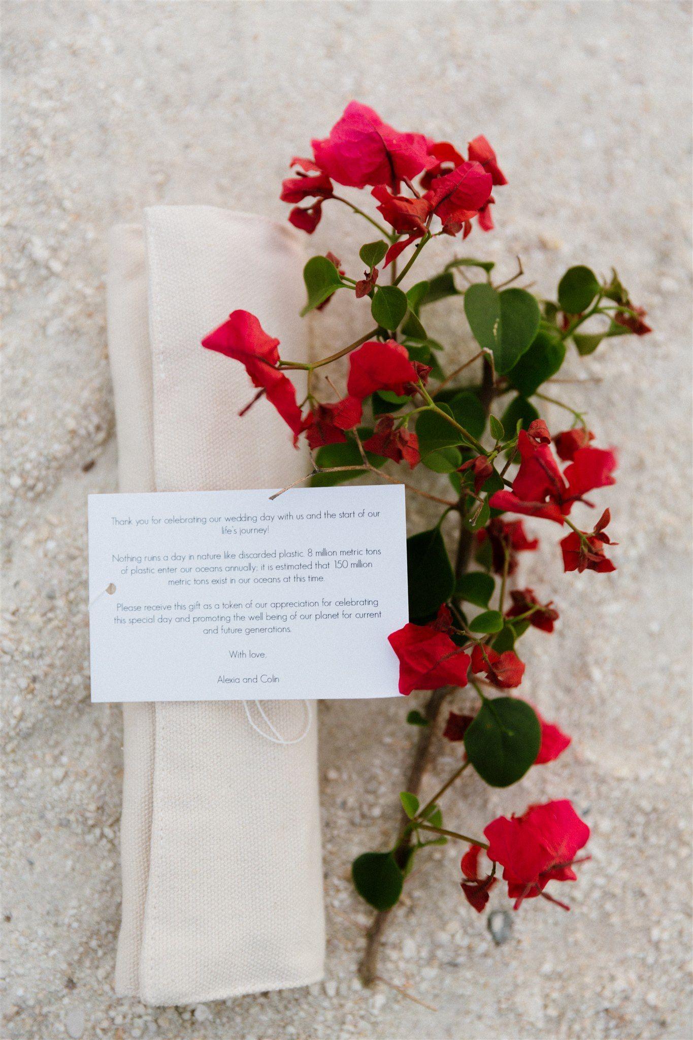 Florida Keys wedding favor